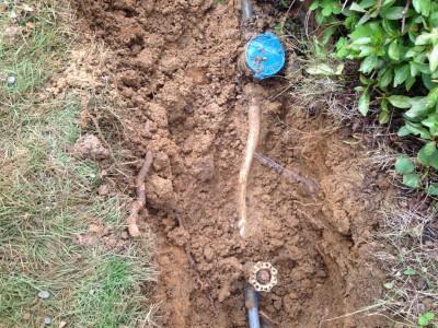 水が漏れている個所を見つけました。