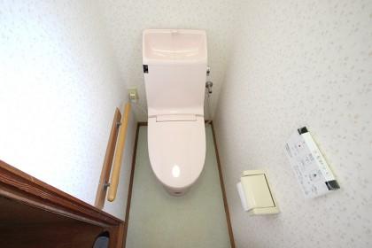 新しいトイレ設置完了